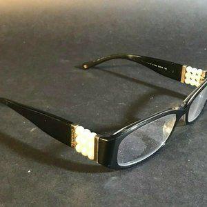 Chanel Oval Rectangle Black Eyeglass FRAMES ONLY C